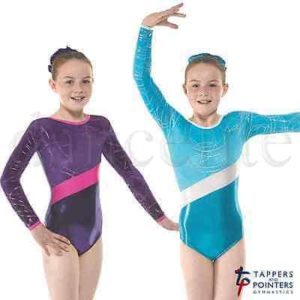 Shine and Foil Long Sleeve Gymnastic Leotard G32