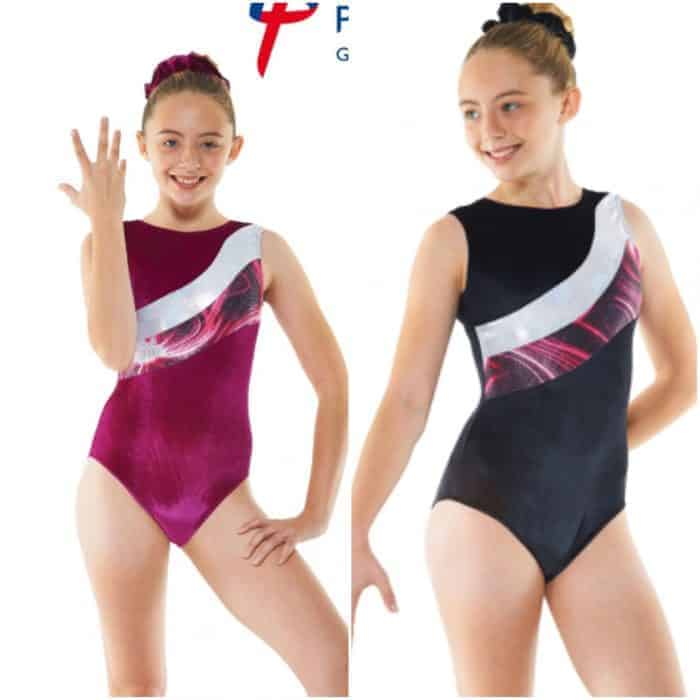 Velvet and Foil Solaris Sleeveless Gymnastic Leotard G20