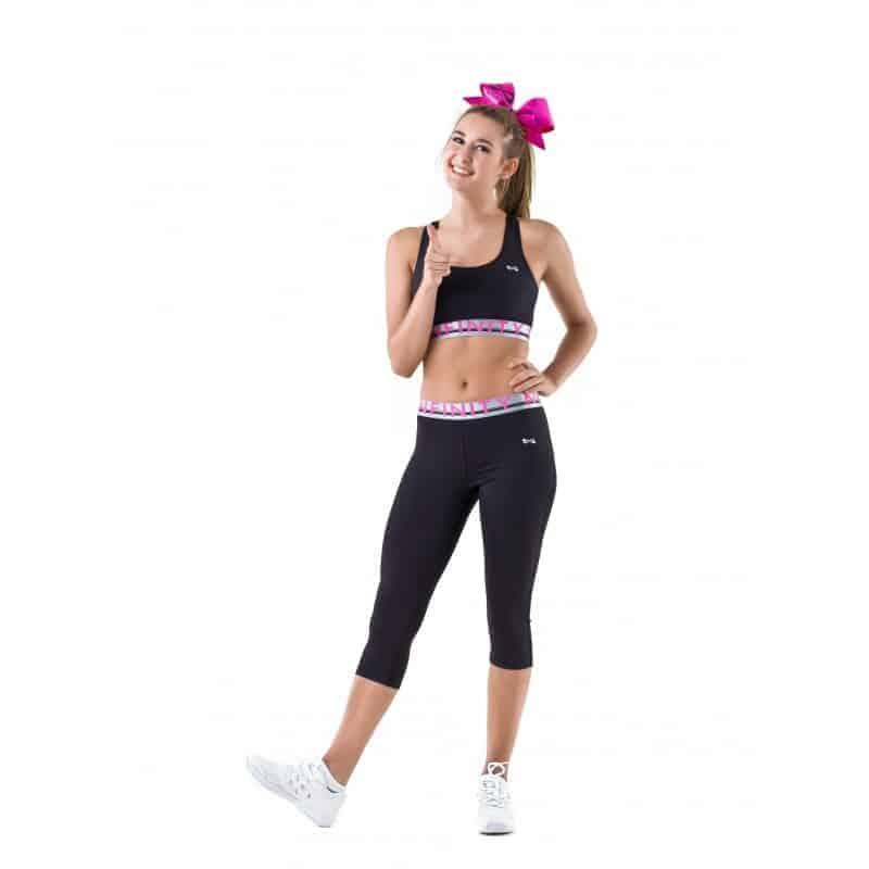 Nfinity Silver/Pink Waistband Leggings