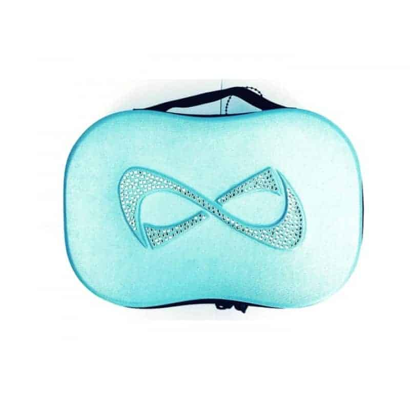 Nfinity Teal Rhinestones Logo Make Up Case