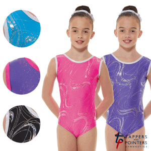 Lycra Silver Hologram Sleeveless Gymnastic Leotard G35