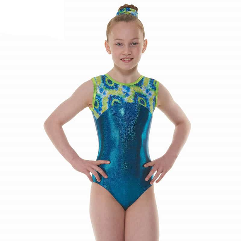 Amazon Shine Nylon Lycra Sleeveless Gymnastic Leotard
