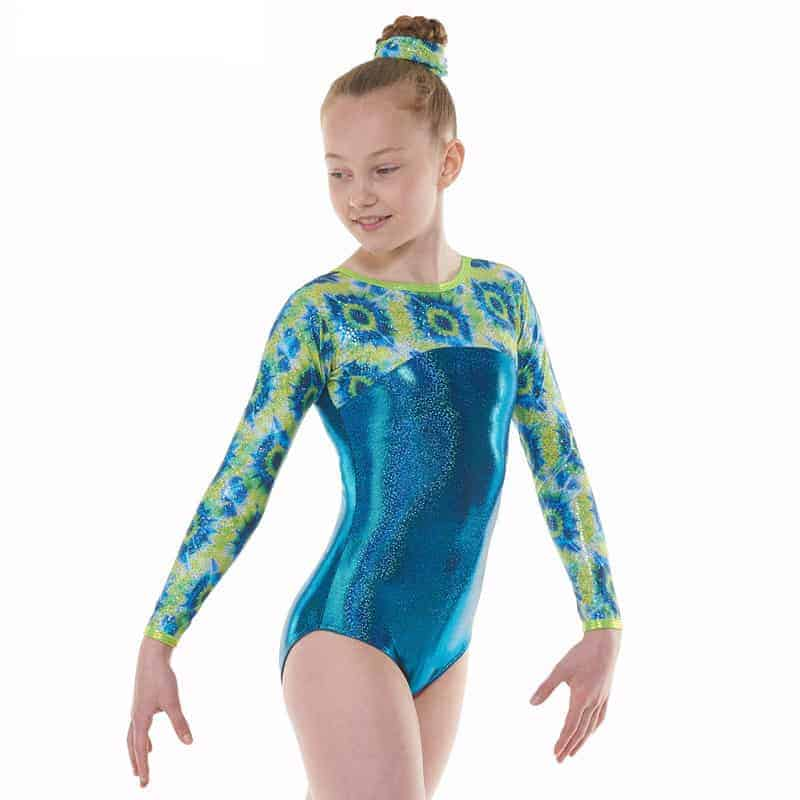 Amazon Shine Nylon Lycra Long Sleeve Gymnastic Leotard