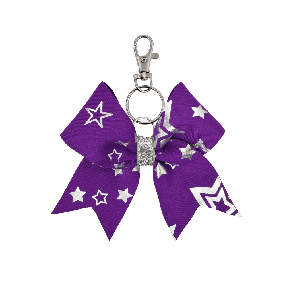 Purple Multi Stars Keyring