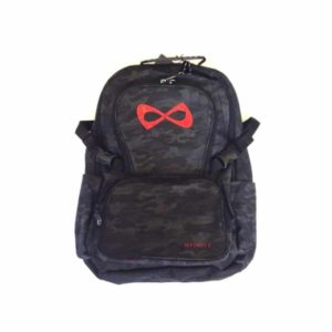 Nfinity Camo Rhinestone Red Logo Backpack